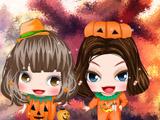 Girl in Pumpkin Costume