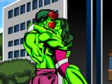 Hulk Kissing