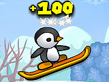Penguins Skiing