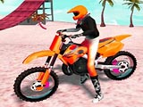 Motocross Beach Jumping Bike Stunt
